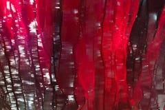 Fondo rojo de Ruby Glass Textured fotografía de archivo libre de regalías