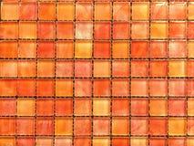 Fondo rojo de tejas de mosaico de la sombra Fotos de archivo