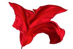 Fondo rojo de tela de seda Fotos de archivo