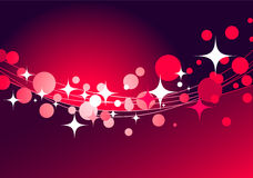 Fondo rojo decorativo con las estrellas Foto de archivo libre de regalías