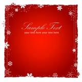Fondo rojo del Año Nuevo (la Navidad) Foto de archivo