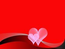 Fondo rojo del amor Fotos de archivo