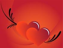 Fondo rojo del amor Fotografía de archivo