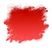 Fondo rojo del borrón de transferencia de la pintura de Grunge Foto de archivo libre de regalías