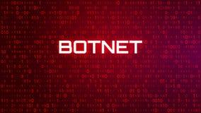 Fondo rojo del código binario de la tecnología Ataque de Botnet libre illustration