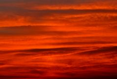 Fondo rojo del cielo Fotografía de archivo