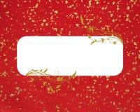 Fondo rojo del copia-espacio del oro Foto de archivo libre de regalías