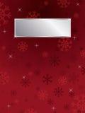Fondo rojo del copo de nieve Imagen de archivo