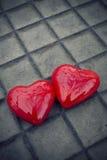 Fondo rojo del corazón Fotografía de archivo libre de regalías
