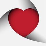 Fondo rojo del corazón Imagen de archivo libre de regalías