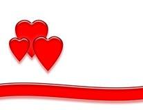 Fondo rojo del corazón Fotos de archivo