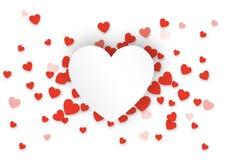 Fondo rojo del corazón del día del ` s de la tarjeta del día de San Valentín libre illustration