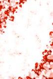 Fondo rojo del corazón de Grunge stock de ilustración