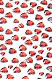 Fondo rojo del corazón del amor Imagen de archivo