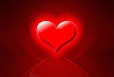Fondo rojo del corazón del amor Imagen de archivo libre de regalías
