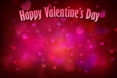 Fondo rojo del corazón para el día de tarjetas del día de San Valentín imágenes de archivo libres de regalías