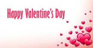 Fondo rojo del corazón para el día de tarjetas del día de San Valentín fotos de archivo libres de regalías