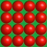 Fondo rojo del día de fiesta de las bolas Fotos de archivo