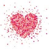 Fondo rojo del día de tarjetas del día de San Valentín con los corazones Símbolo del amor 14 de febrero Te amo Sea mi tarjeta del libre illustration