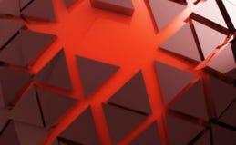 Fondo rojo del extracto de la forma Ilustración del Vector