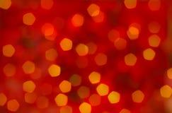 Fondo rojo del extracto de la Navidad - bokeh Fotografía de archivo