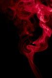 Fondo rojo del extracto del humo Imágenes de archivo libres de regalías