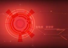 Fondo rojo del extracto del techno Imagen de archivo libre de regalías