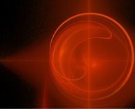 Fondo rojo del fractal Imagen de archivo