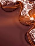 Fondo rojo del fractal Ilustración del Vector