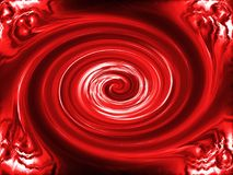 Fondo rojo del giro Fotos de archivo libres de regalías
