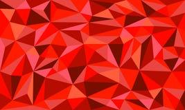Fondo rojo del gráfico de Ruby Low Poly Art Vector Fotografía de archivo