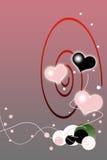 Fondo rojo del gradiente del día de tarjetas del día de San Valentín Imágenes de archivo libres de regalías