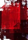 Fondo rojo del grunge stock de ilustración