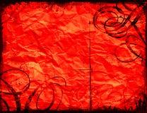 Fondo rojo del grunge Foto de archivo libre de regalías