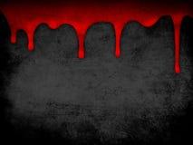 Fondo rojo del grunge de la sangre del goteo Foto de archivo libre de regalías
