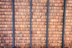 Fondo rojo del grunge de la textura de la pared de ladrillo Foto de archivo libre de regalías