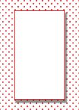 Fondo rojo del marco de los puntos del vector Imagenes de archivo