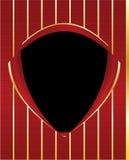 Fondo rojo del marco del blindaje del negro del oro libre illustration