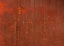 Fondo rojo del metal de la textura Fotografía de archivo libre de regalías
