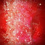 Fondo rojo del mosaico Foto de archivo libre de regalías