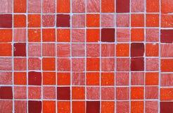 Fondo rojo del mosaico del azulejo foto de archivo libre de regalías
