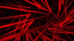 fondo rojo del movimiento del extracto del lazo del vórtice VJ de los tubos de neón 3D libre illustration