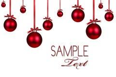 Fondo rojo del ornamento del día de fiesta de la Navidad Fotos de archivo libres de regalías