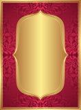 Fondo rojo del oro Imagenes de archivo