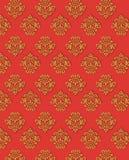 Fondo rojo del oro del vector Foto de archivo libre de regalías