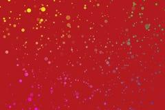 Fondo rojo del parpadeo del confeti ilustración del vector