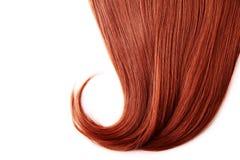 Fondo rojo del pelo Imágenes de archivo libres de regalías