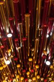 Fondo rojo del plástico del metall del oro Fotografía de archivo libre de regalías