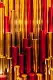 Fondo rojo del plástico del metall del oro Foto de archivo libre de regalías