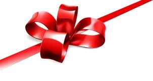 Fondo rojo del regalo del arco Fotografía de archivo
